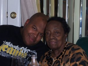My grandmother and I, circa 2008.